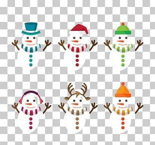 Snowman Scarf Christmas PNG