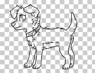 Puppy Dog Breed Whiskers Line Art PNG