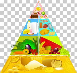 Food Pyramid Stock Illustration PNG