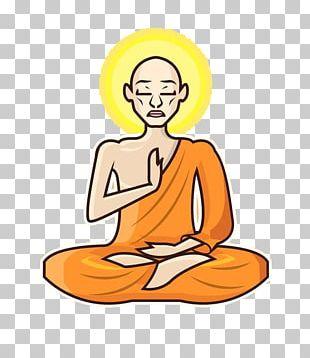 Meditation Monk PNG