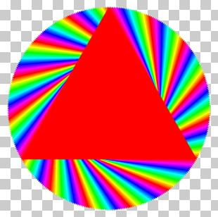 Triangle Circle Album Cover Red PNG