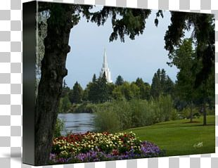 Idaho Falls Idaho Temple Botanical Garden Gallery Wrap Pond Park PNG