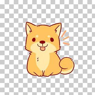Shiba Inu Drawing Chibi Sticker Cartoon PNG
