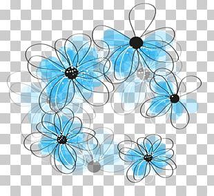 Blue Butterfly Flower PNG