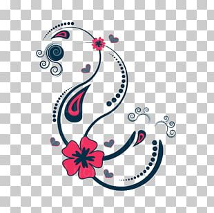 Floral Design Drawing PNG