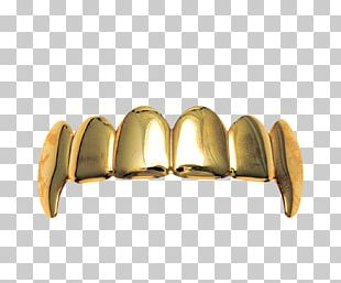 Gold Grill Jewellery Tooth Fang PNG