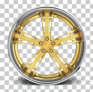 Rim Alloy Wheel Forging Gold PNG