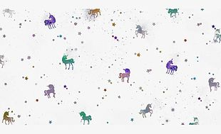 Star Unicorn Background Material PNG