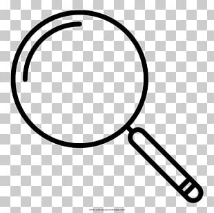 Black And White Drawing Coloring Book Magnifying Glass PNG