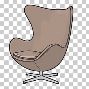 Eames Lounge Chair Egg Drawing Furniture PNG