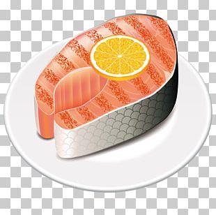 Fish Steak Japanese Cuisine Salmon Illustration PNG
