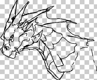 Line Art Drawing Chinese Dragon PNG