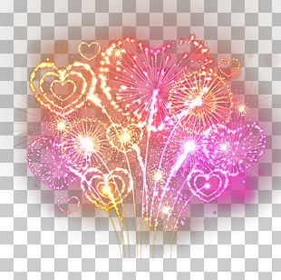 Fireworks Heart PNG