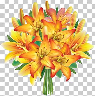 Flower Bouquet Wedding Invitation PNG
