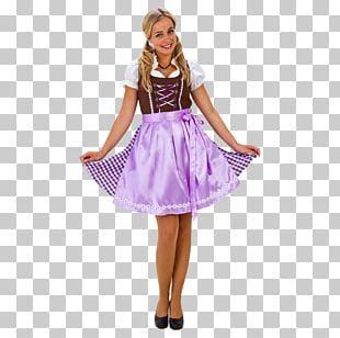 Costume Purple Tyrol Dirndl Skirt PNG