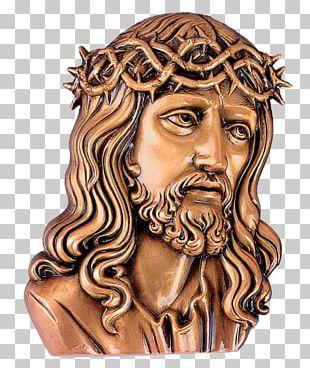 Jesus Headstone Crucifix Bronze Memorial PNG