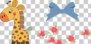 Giraffe Infant Baby Shower PNG