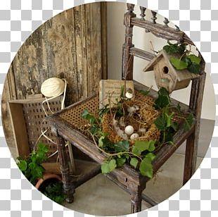 Flower Garden Chair Furniture Green Wall PNG