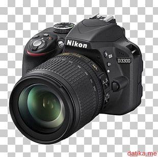 Nikon D3300 Nikon AF-S DX Nikkor 55-300mm F/4.5-5.6G ED VR Camera Lens Digital SLR PNG