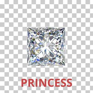 Diamond Cut Gemological Institute Of America Princess Cut Engagement Ring PNG