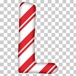 Santa Claus Letter Candy Cane Christmas Alphabet PNG