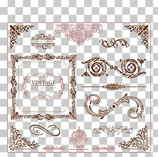 Ornament Vintage Clothing Frame PNG