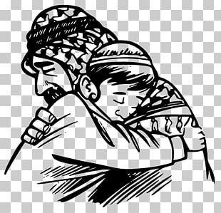 Father Hug Child PNG