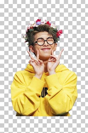 RM BTS Crown Flower Rapper PNG