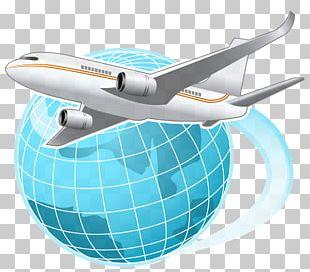 Airplane Flight Globe World PNG