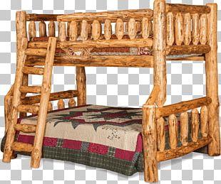 Bed Frame Bedside Tables Bunk Bed Log Furniture PNG