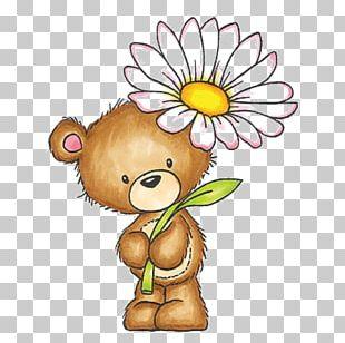 Teddy Bear Drawing Flower PNG