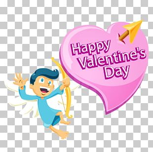 Cupid Valentines Day Love Poster PNG