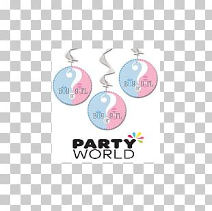 Gender Reveal Hanging Swirl Decorations Baby Shower Party Infant PNG