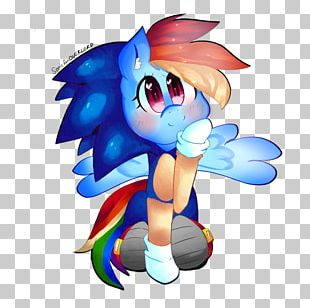 Rainbow Dash Horse Video Game PNG