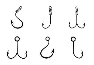Fish Hook Fishing Pattern PNG