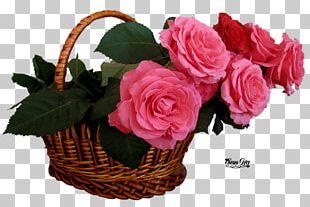 Pink Flowers Rose High-definition Television Basket PNG
