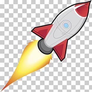 Rocket Spacecraft Cartoon Illustration PNG