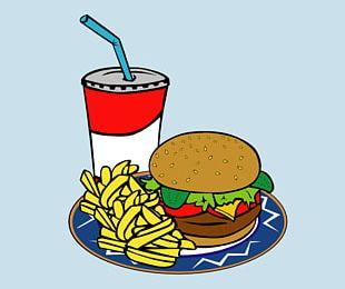 Hamburger Milkshake French Fries Fast Food Veggie Burger PNG