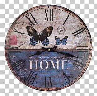 Clock Living Room Shabby Chic Decorative Arts Wall PNG