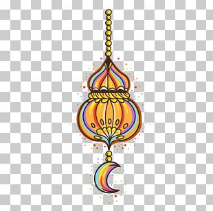 Color Hand-painted Ornaments Eid PNG