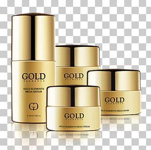 Gold Chemical Element Cream Skin Care Serum PNG