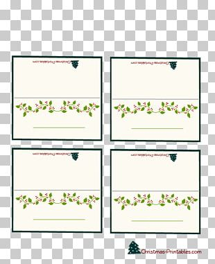 Place Cards Christmas Holiday Greeting & Note Cards Paper PNG