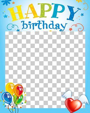 Birthday Cake Happy Birthday Card! Frame PNG