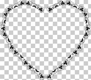 Love Borders And Frames Black And White PNG
