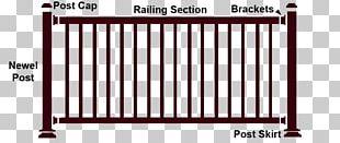 Fence Handrail Deck Railing Guard Rail PNG