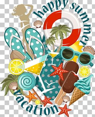 Beach Summer Illustration PNG