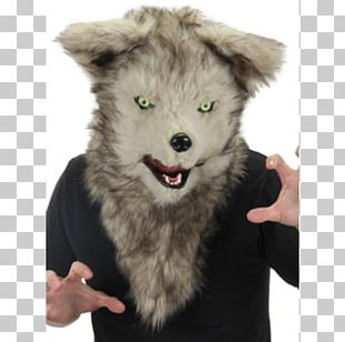 Gray Wolf Mask Halloween Costume Werewolf PNG