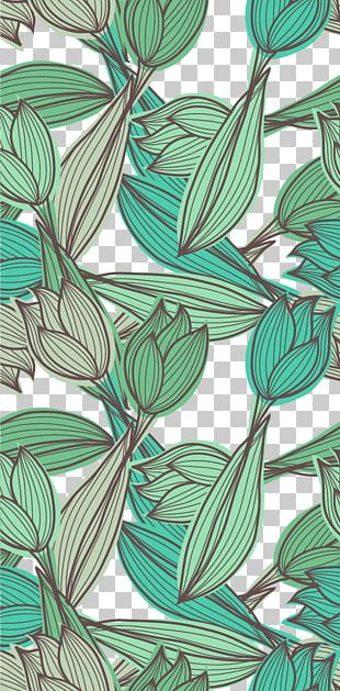 Green Leaves Background Shading Material PNG