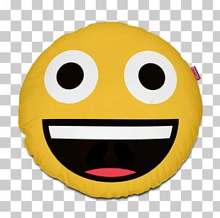 Smiley Face With Tears Of Joy Emoji Emoticon Pillow PNG