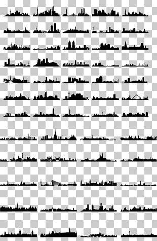 Silhouette Skyline Illustration PNG